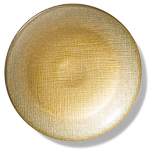 Glitter Canapé Plate, Gold
