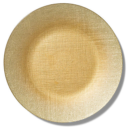 Glitter Charger, Gold