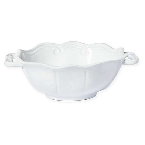 Incanto Baroque Handle Bowl, White