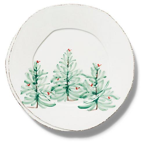 Lastra Euro Dinner Plate, White/Multi