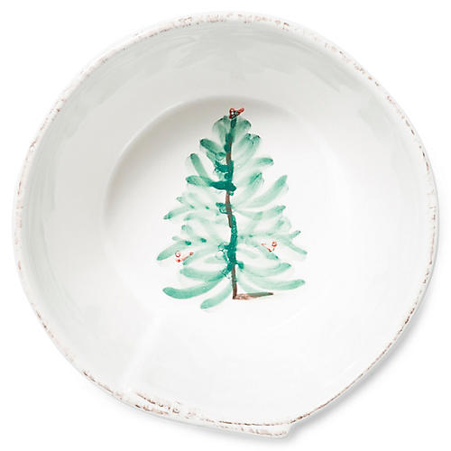 Lastra Holiday Cereal Bowl, White/Multi