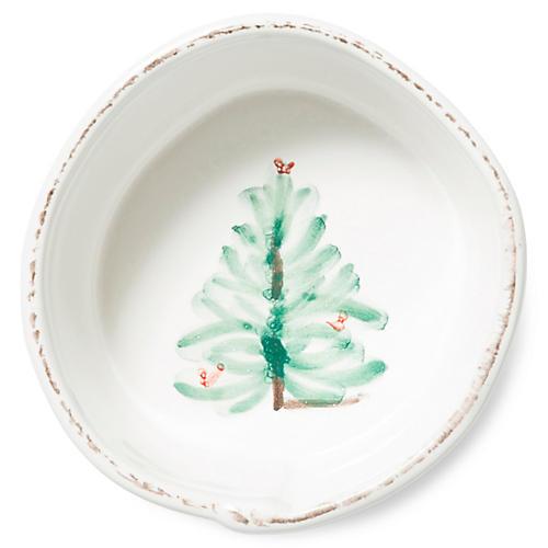 Lastra Holiday Serving Bowl, White/Multi