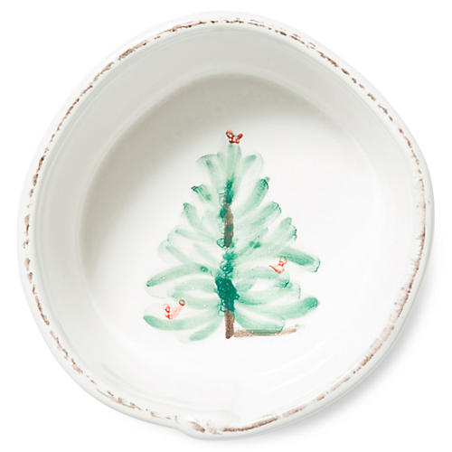 Lastra Holiday Serving Bowl, White/Multi