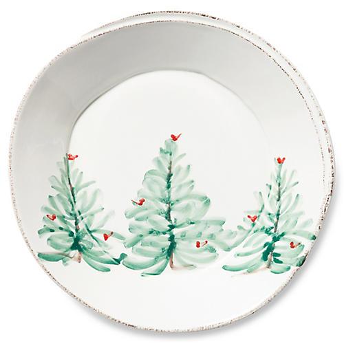 Lastra Holiday Pasta Bowl, White/Multi