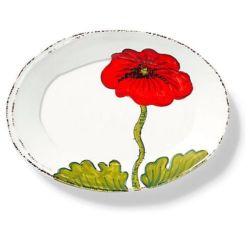 Lastra Flower Platter, White/Multi