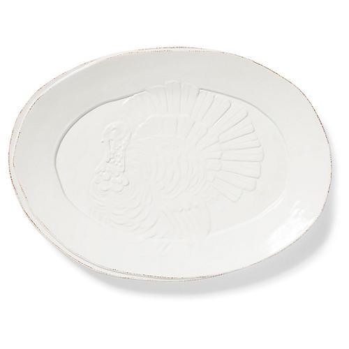 Lastra Platter, White