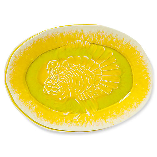 Lastra Turkey Platter, Yellow