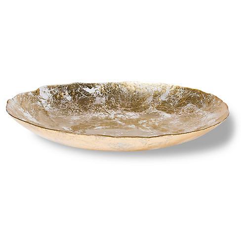 Moon Glass Centerpiece, Gold