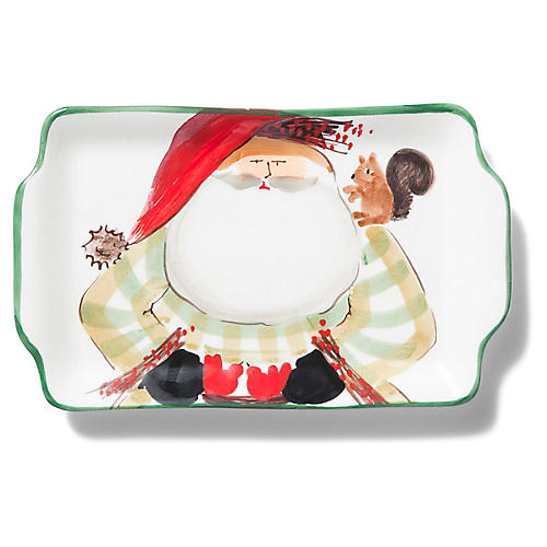 Old St. Nick Plate, Red/Multi