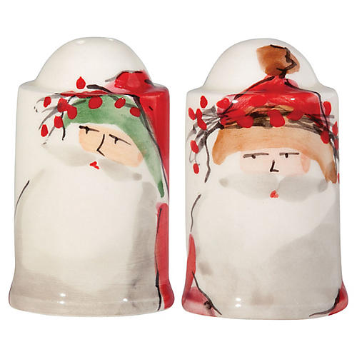 S/2 Old St. Nick S&P Set, Red/Multi