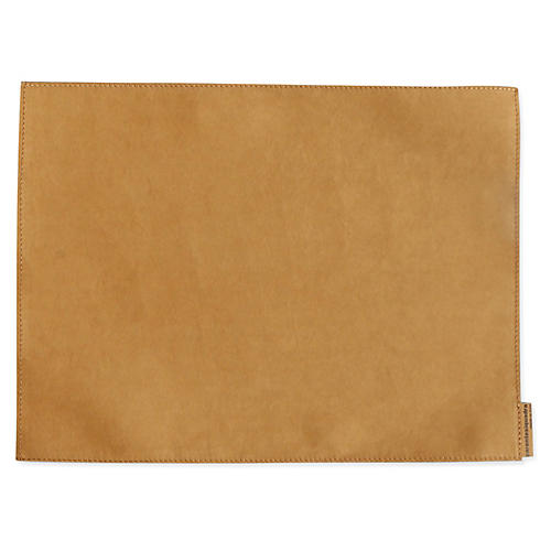 S/4 Italian Paper Place Mats, Tobacco