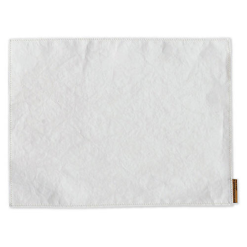 S/4 Italian Paper Place Mats, White
