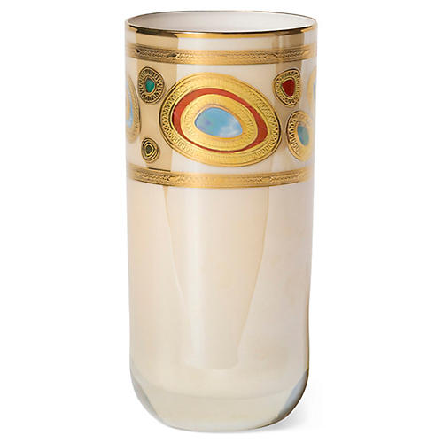 Regalia Highball Glass, Cream/Multi