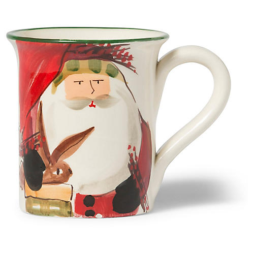 Old St. Nick Mug, Red/Multi