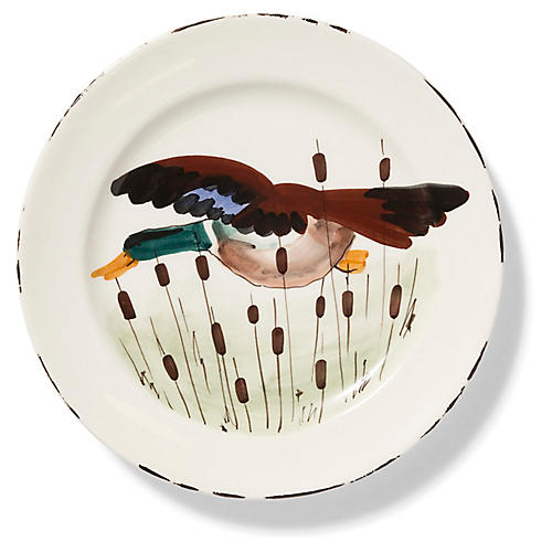Wildlife Mallard Dinner Plate, White/Multi