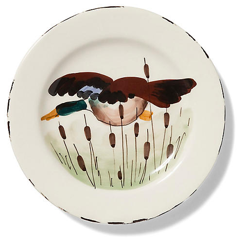 Wildlife Mallard Salad Plate, White/Multi