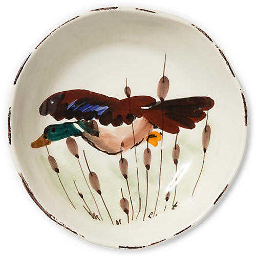 Wildlife Mallard Pasta Bowl, White/Multi
