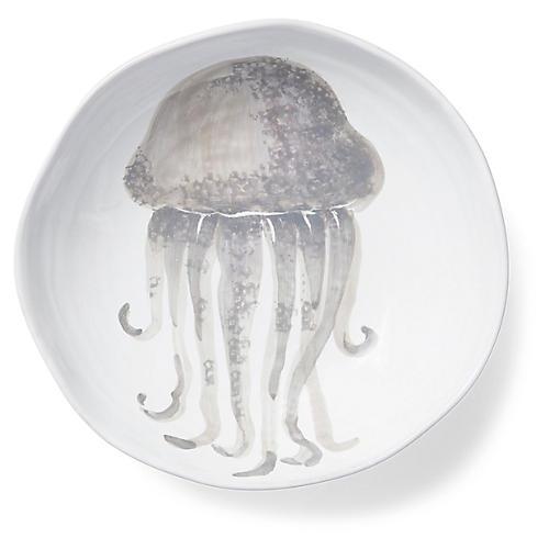 Marina Jellyfish Pasta Bowl, Ivory/Gray
