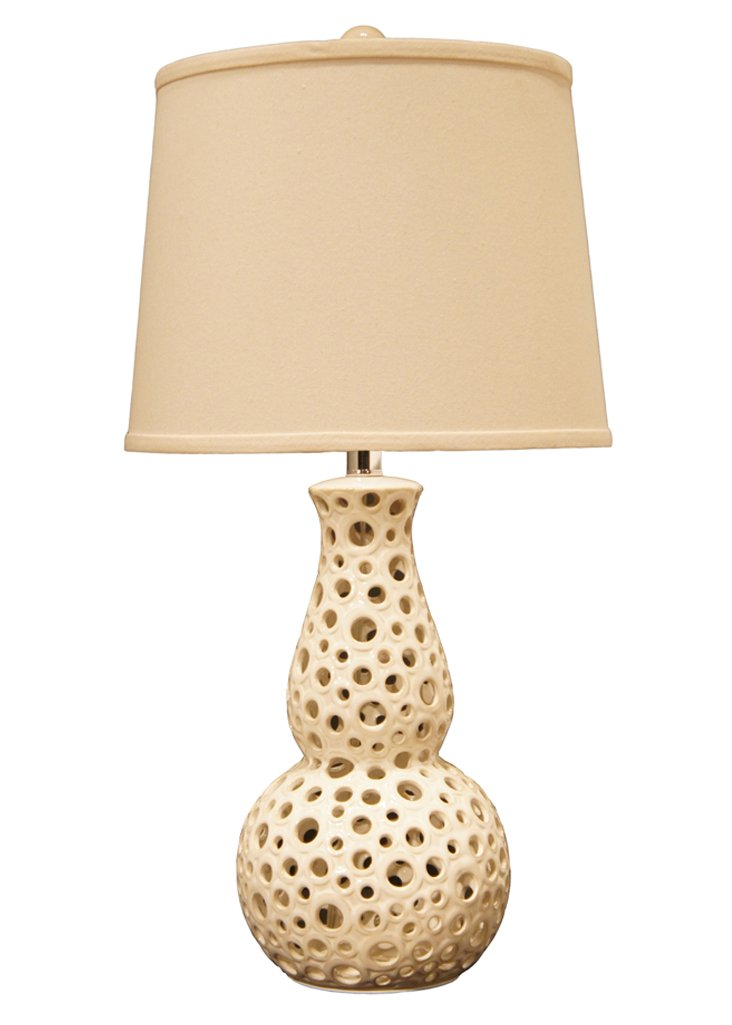 Passages Table Lamp, Cream