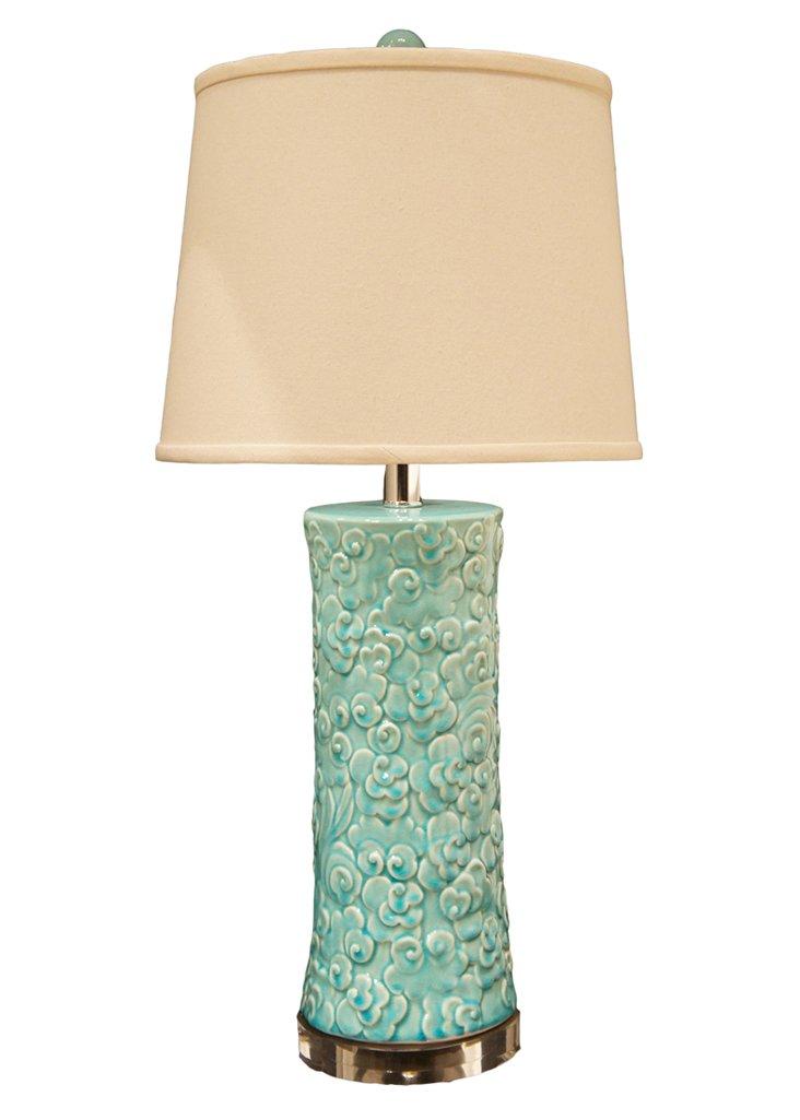 Cel Cloud Table Lamp, Aqua