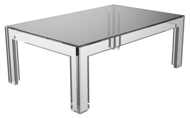 "Oliver 44"" Cocktail Table, Clear"