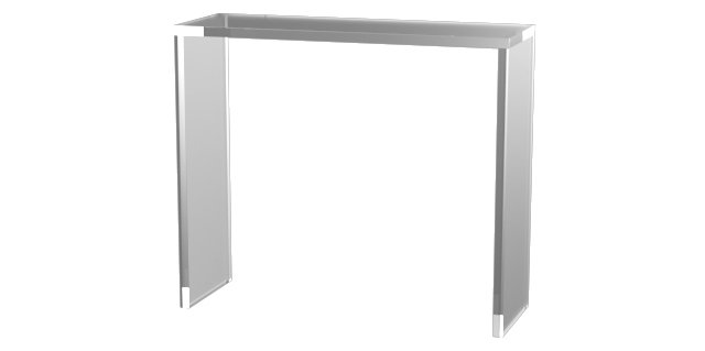 """Parker 35"""" Acrylic Console Table, Clear"""