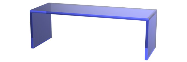 Ryder Cocktail Table, Sapphire