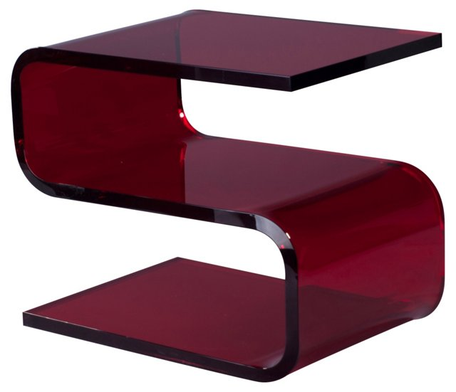 "Francis 22"" Side Table, Ruby"