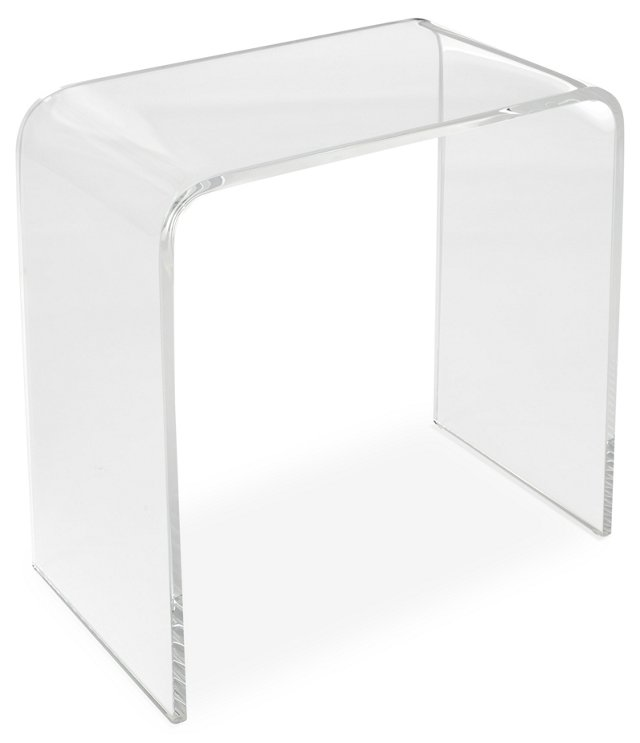 """Lily 18"""" Acrylic Side Table, Clear"""
