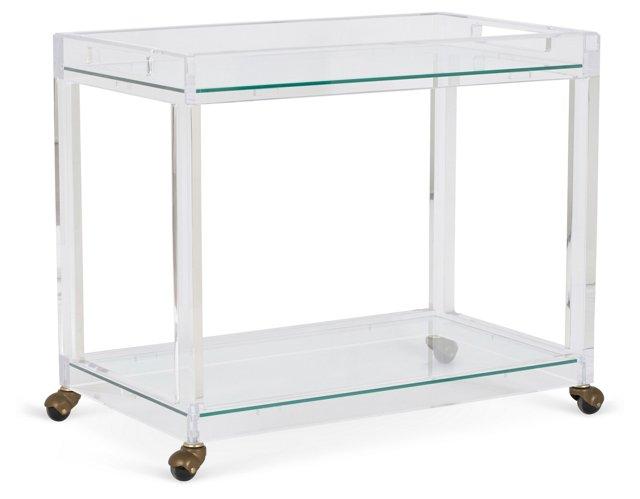 Timothy Whealon Bar Cart, Clear