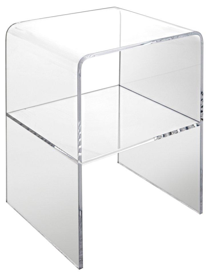 Anna Acrylic Side Table, Clear