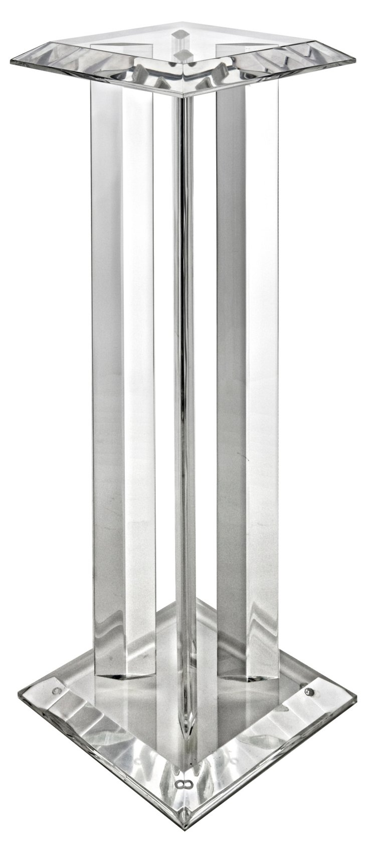 Icicle Pedestal, Clear