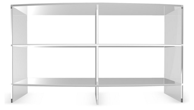 """Bow Front 45"""" Media Console, Clear"""