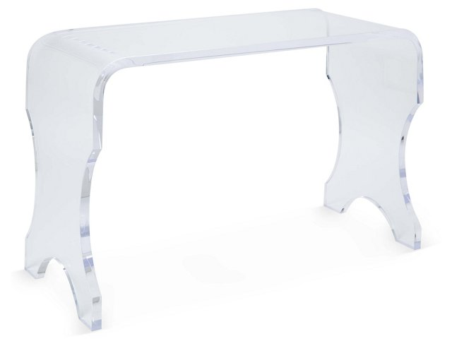 "Piano 38"" Acrylic Bench, Clear"