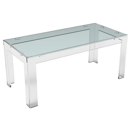 Parsons Acrylic Coffee Table, Clear