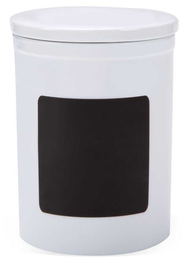 "7"" Chalkboard Canister, White"