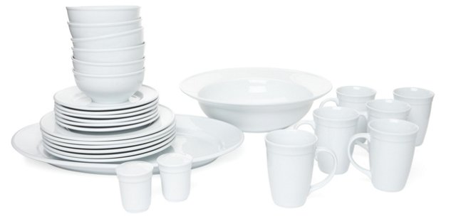 28-Pc Porcelain Dinnerware Set