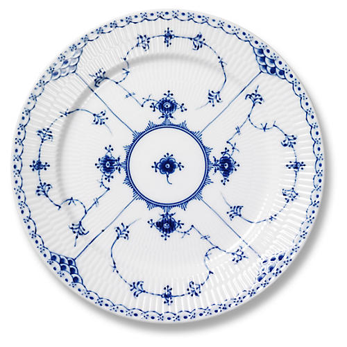 Blue Half Lace Dinner Plate, 10.75""