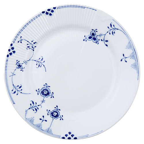 Elements Salad Plate, Blue/White