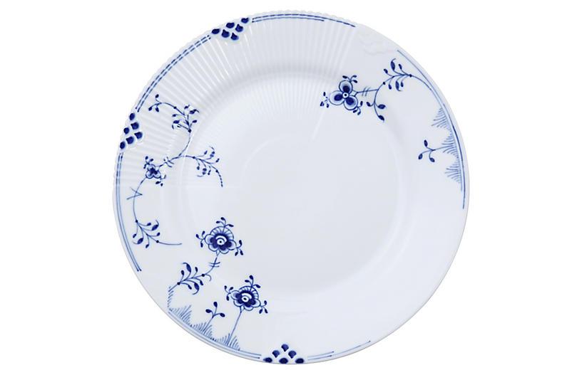 Elements Salad Plate, Blue/White
