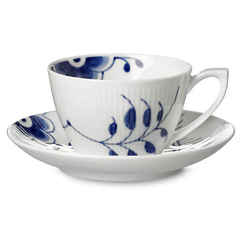 Blue Mega Teacup & Saucer