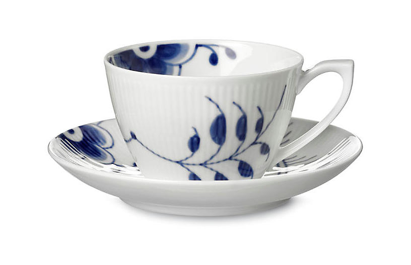 Blue Mega Teacup & Saucer