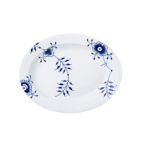 Blue Mega Oval Platter, Large