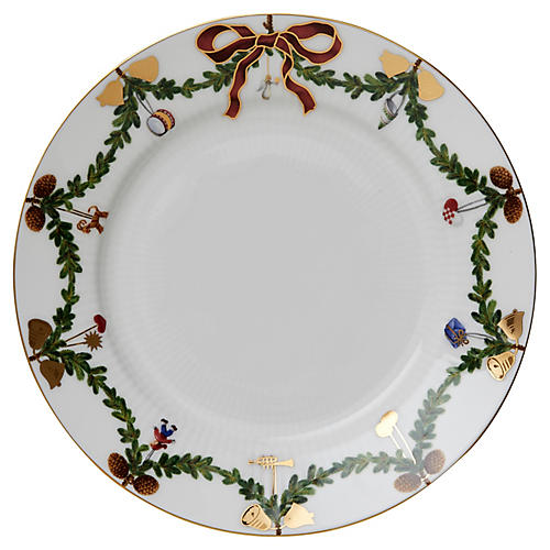 Star Fluted Dinner Plate, 10.75""