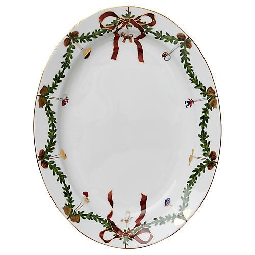 Star Fluted Oval Platter, Large