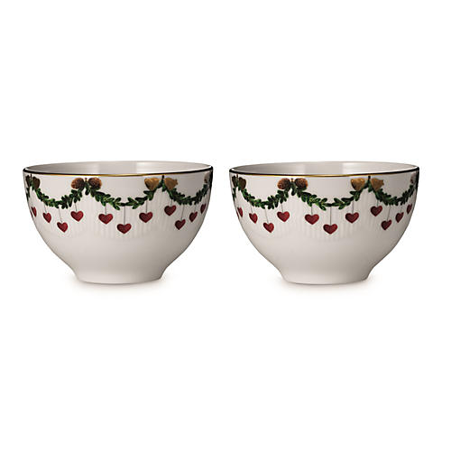 S/2 Star Fluted Chocolate Bowls