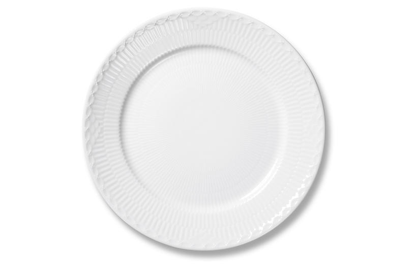 White Half Lace Dinner Plate, 10.75