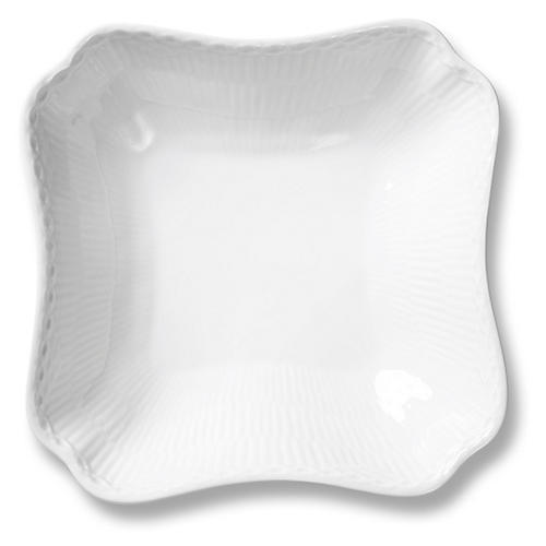 White Half Lace Square Bowl