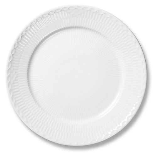 "White Half Lace Salad Plate, 8.75"""