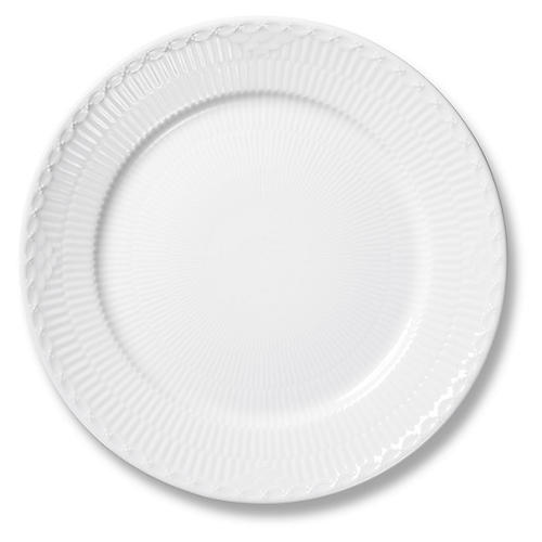 White Half Lace Salad Plate, 8.75""